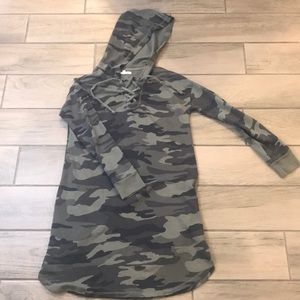 Maurices camo sweatshirt dress S